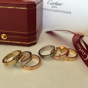 Cartier LOVE ring, small model - yellow gold, pink gold, white gold
