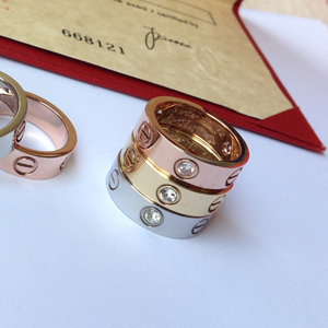 Cartier Love Ring with diamonds rose gold, yellow gold, white gold