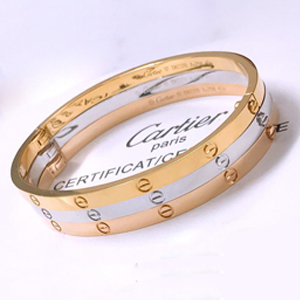 Cartier LOVE bracelet, SM - yellow gold, rose gold, white gold